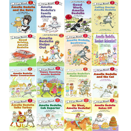 I Can Read Level 2: Amelia Bedelia 페이퍼백 16종 세트