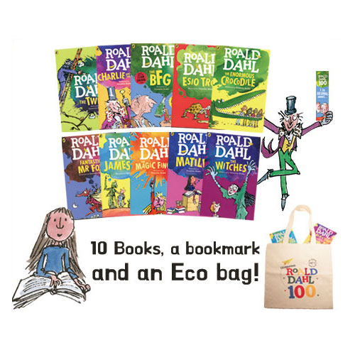 Roald Dahl 10 Books Collection with Eco bag&Bookmark