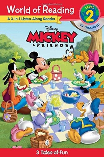 World of Reading Level 2 : Mickey and Friends: 3 Tales of Fun (Book & CD) 3종 합본