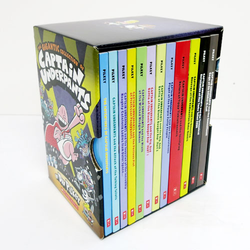 The Gigantic Collection of Captain Underpants A세트 Box Set  빰빠라밤!빤스맨 12종 박스