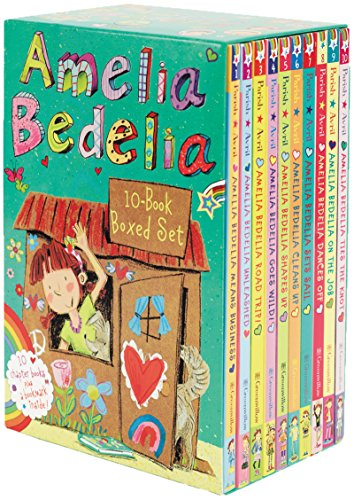 Amelia Bedelia Chapter Book 10-Book Box Set (With Bookmark) 페이퍼백 10종 박스 세트