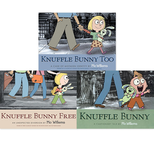 Knuffle Bunny 페이퍼백 3종 세트