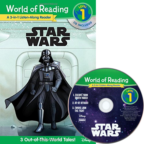 World of Reading Level 1 :  Star Wars (Book & CD) 3종 합본