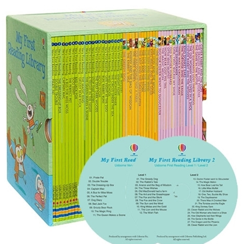 어스본 Usborne My First Reading Library 도서 50권 & Mp3 CD 2장 세트