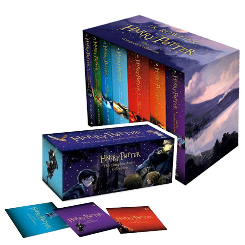 Harry Potter 영국판 1~#7 (Paperback & CD) Full Box Set