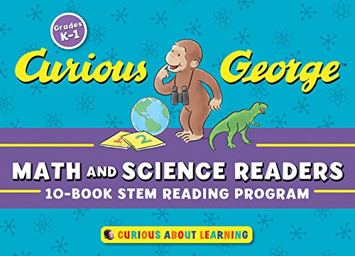 Curious George Math and Science Readers 10종 페이퍼백 박스 세트(with Cards)