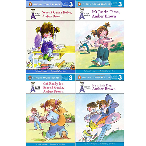 Penguin young readers Level 3 : A is for Amber (Amber Brown) 페이퍼백 4종 세트