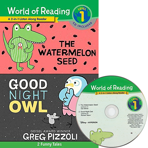 World of Reading Level 1 : Watermelon Seed, The and Good Night Owl (Book & CD) 2종 합본