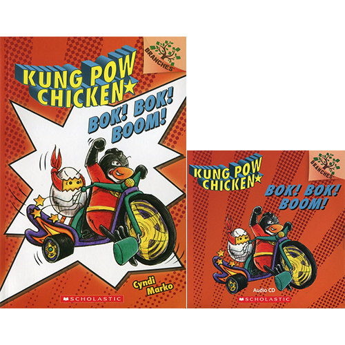 Kung Pow Chicken #2 Bok! Bok! Boom! (Book & CD) A Branches Book