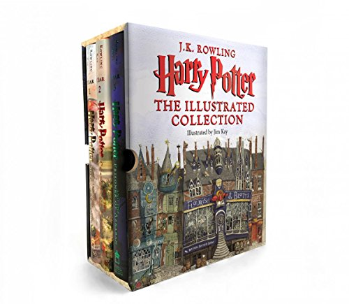 Harry Potter: The Illustrated Collection 해리포터 컬러 일러스트 하드커버 3종 박스 세트