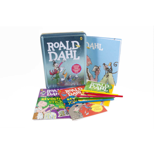 Roald Dahl Book and Tin Case (Paperbacks, 5 Color Pencils, Poster)