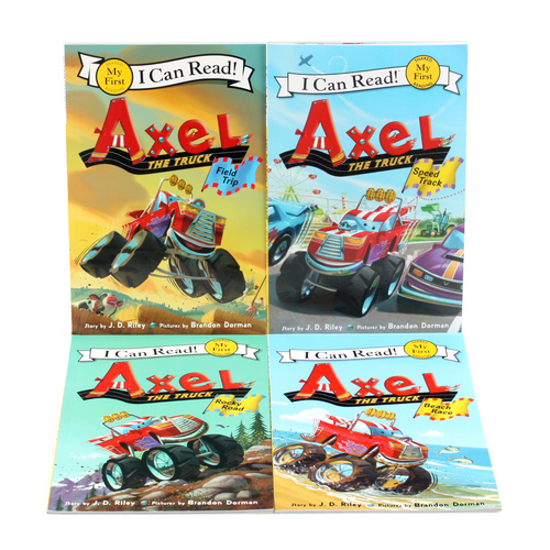 I Can Read My First : Axel the Truck 페이퍼백 4종 세트