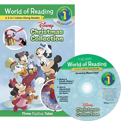 World of Reading Level 1: Disney Christmas Collection 3-in-1 Listen-Along Reader 3 Festive Tales (Book & CD) 3종 합본