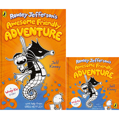 Rowley Jefferson's Awesome Friendly Adventure : Diary of a Wimpy Kid (Hardcover+CD) 세트
