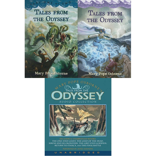 Tales from the Odyssey 합본 2종 & 2종을 읽어주는 오디오 CD 세트