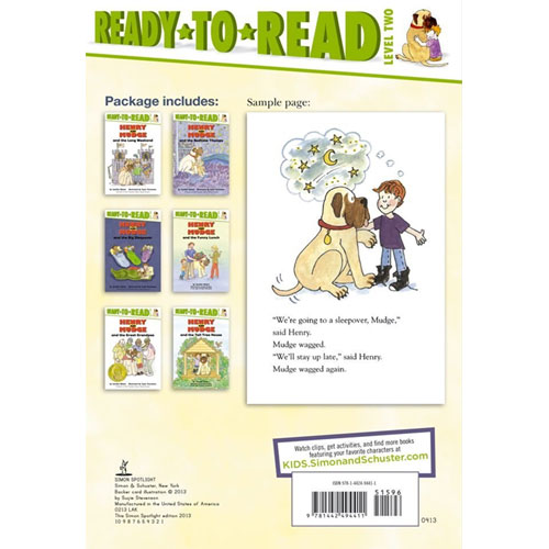 Henry and Mudge Ready-To-Read Value Pack #2 : 페이퍼백 6종 (Level 2)