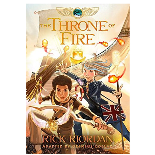 The Kane Chronicles #2:The Throne of Fire :The Graphic Novel